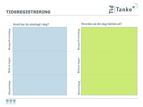 Trine Koldings forslag til, hvordan man begynder at registrere sit tidsforbrug